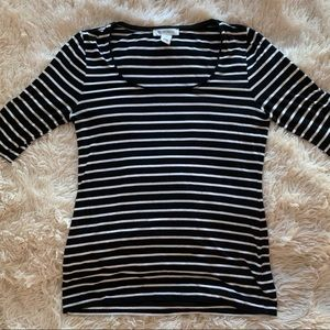 White House Black Market Tops - black and white striped white house black market